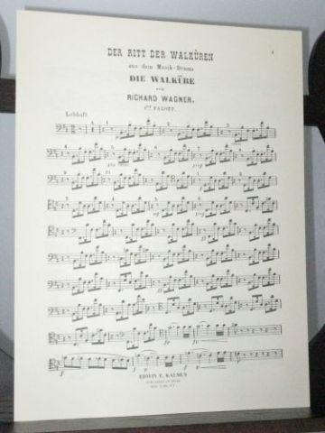 Wagner R - The Ride of the Valkyries from Das Rheingold Bassoon 1 Part
